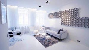 ruang tamu putih